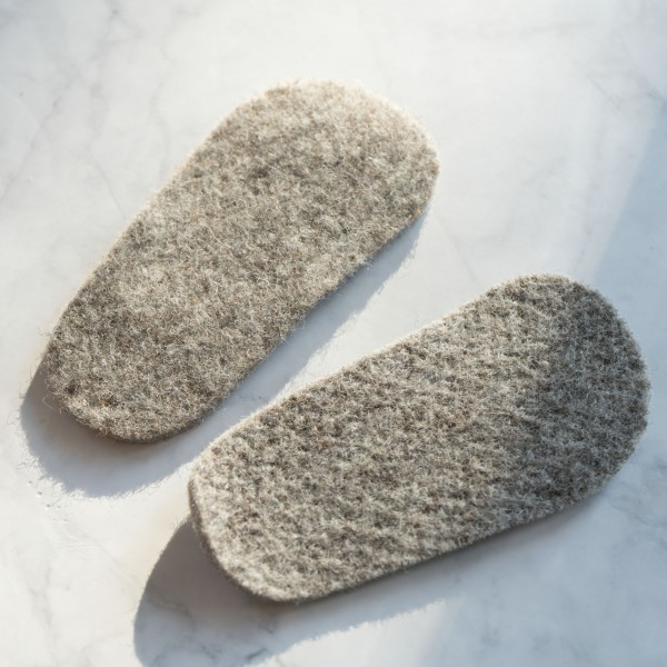 Filz-Einlegesohle grau