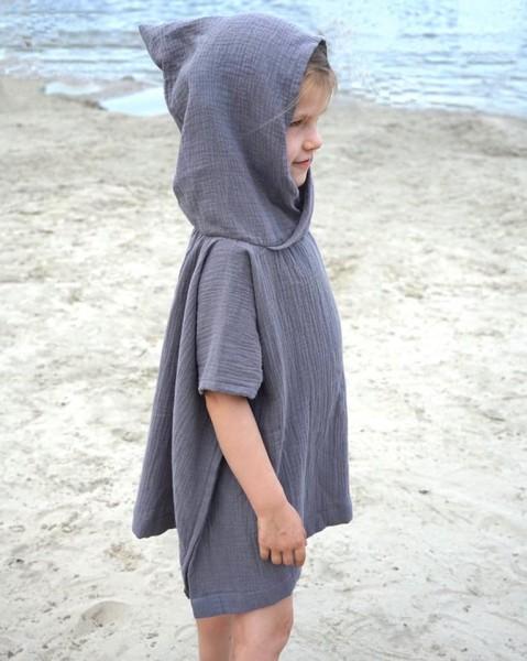 Beach Poncho Grau