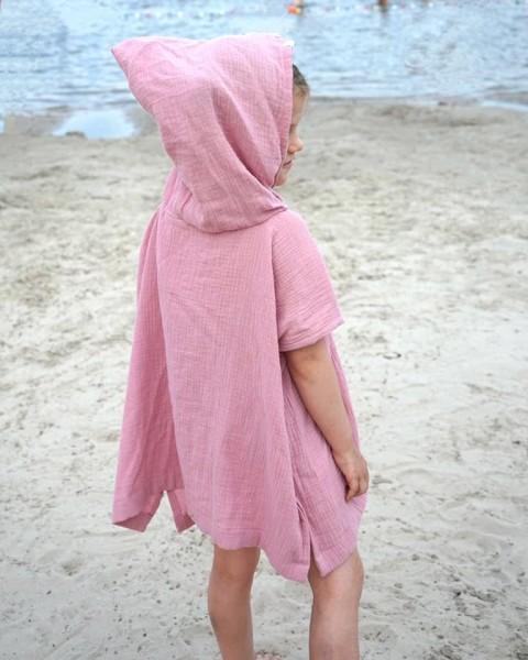 Beach Poncho Rosa